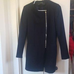 Zara - asymmetrical topper jacket, navy